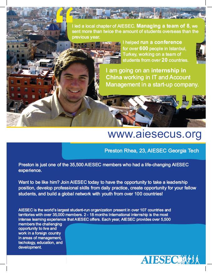 My I am an AIESECer Poster